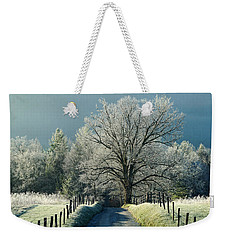 Frosty Morning On Sparks Lane Weekender Tote Bag
