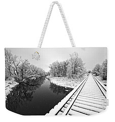 Weekender Tote Bag featuring the photograph Frosty Morning On The Poudre by James Steele