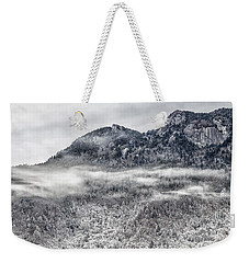 Snowy Grandfather Mountain - Blue Ridge Parkway Weekender Tote Bag