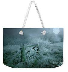 Frosty Night Weekender Tote Bag