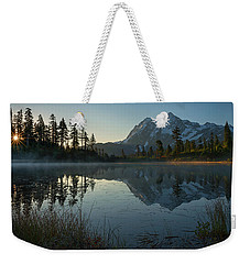 Frosty Picture Lake Weekender Tote Bag