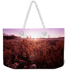 Weekender Tote Bag featuring the photograph Frosty Sunrise by Lars Lentz