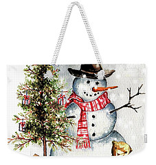Frosty The Snowman Greeting Card Weekender Tote Bag