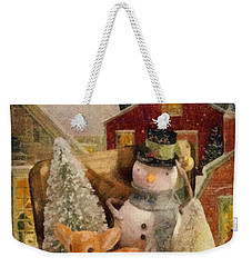 Frosty The Snowman Weekender Tote Bag by Mo T
