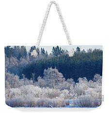 Frosty Trees Of February Weekender Tote Bag