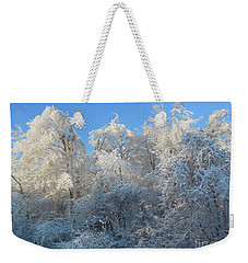 Frosty Trees Weekender Tote Bag