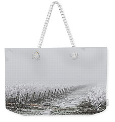 Frozen Blueberry Mist Weekender Tote Bag