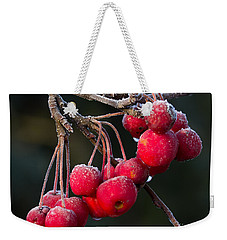 Frosted Apples Weekender Tote Bag