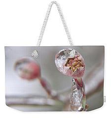 Frozen Dogwood Bud Weekender Tote Bag