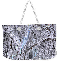 Frozen Falls Weekender Tote Bag by Fiskr Larsen