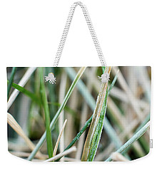 Frozen Grass Weekender Tote Bag