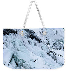 Frozen Gullfoss In Winter Weekender Tote Bag