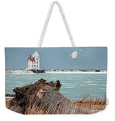 Frozen Harbor Weekender Tote Bag