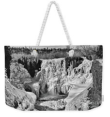 Frozen High Falls Weekender Tote Bag