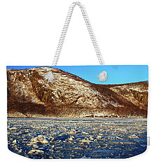 Weekender Tote Bag featuring the photograph Frozen by James Kirkikis