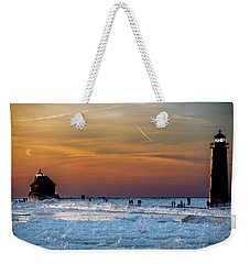 Frozen Lighthouse Weekender Tote Bag