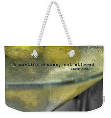 Frozen Martini Quote Weekender Tote Bag