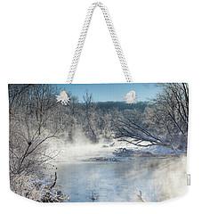 Frozen Misty Morning Weekender Tote Bag