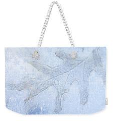 Frozen Oak Leaf Imprint Weekender Tote Bag