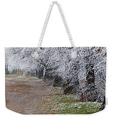 Frozen Pathway Weekender Tote Bag