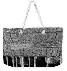 Weekender Tote Bag featuring the photograph Frozen Road Warrior by Robert Knight