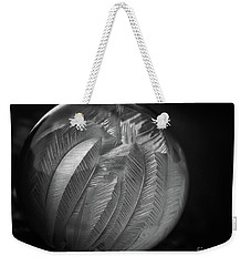 Frozen Soap Bubble - Black And White - Macro Weekender Tote Bag