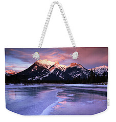 Frozen Sunrise Weekender Tote Bag