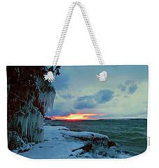 Frozen Sunset In Cape Vincent Weekender Tote Bag