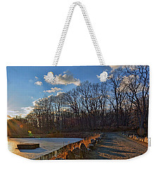 Frozen Sunset Weekender Tote Bag by Jeffrey Friedkin