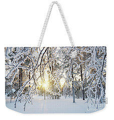 Frozen Trees Weekender Tote Bag by Delphimages Photo Creations