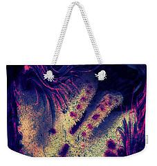 Frozen Violet Weekender Tote Bag
