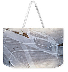 Frozen Water On Ground Weekender Tote Bag