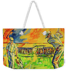 Fruehen Morgen Spiel   Early Morming Game Weekender Tote Bag