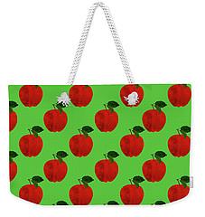 Fruit 02_apple_pattern Weekender Tote Bag by Bobbi Freelance