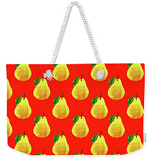 Fruit 03_pear_pattern Weekender Tote Bag by Bobbi Freelance