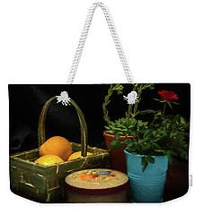 Fruit And Flowers Still Life Digital Painting Weekender Tote Bag
