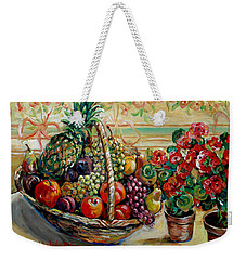 Fruit Basket Weekender Tote Bag