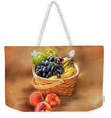 Fruit Basket Weekender Tote Bag by Mary Timman