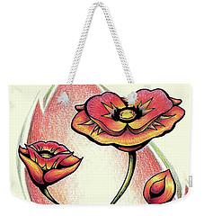 Vibrant Flower 1 Poppy Weekender Tote Bag
