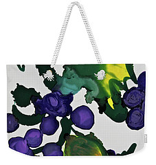 Weekender Tote Bag featuring the painting Fruit Of The Vine by Michele Myers