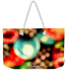 Weekender Tote Bag featuring the photograph Fruit Sticker by Barbara Tristan