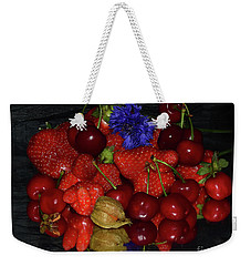 Weekender Tote Bag featuring the photograph Fruits With Flower by Elvira Ladocki