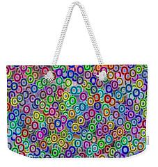 Weekender Tote Bag featuring the digital art Fruity Loops Fun by Riana Van Staden