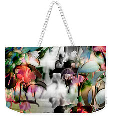 Fuchsia Abstract Weekender Tote Bag by Stuart Turnbull