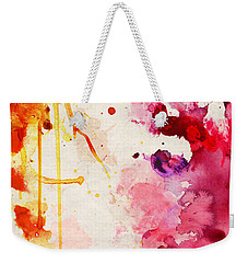Fuchsia And Orange Color Splash Weekender Tote Bag
