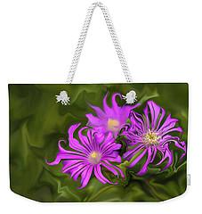 Weekender Tote Bag featuring the digital art Fuchsia Flower - Digital Painting by Cristina Stefan