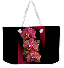 Fuchsia Orchids Oof Weekender Tote Bag by Phyllis Denton