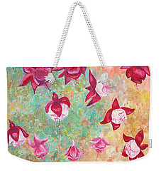 Fuchsias Weekender Tote Bag by Elizabeth Lock
