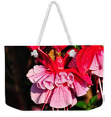 Fuchsias With Droplets Weekender Tote Bag