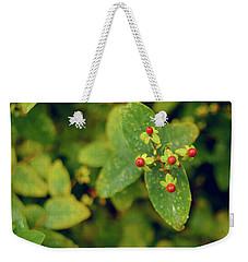 Fall Berry Weekender Tote Bag